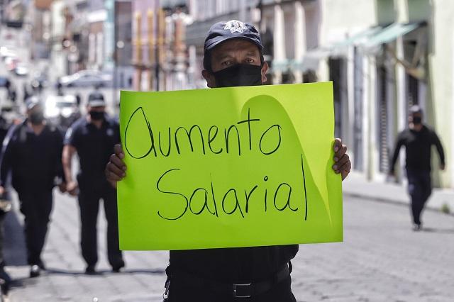 Dice Barbosa que se cumplió aumento salarial a policías
