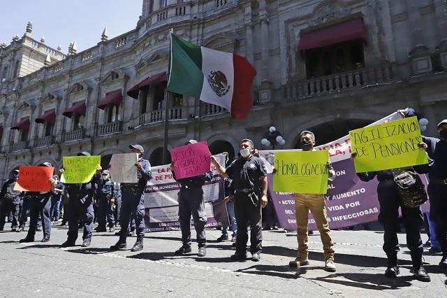 Ni con alza, se acerca Puebla a salario de otras policías estatales