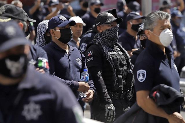 Aumento a policías de Puebla solo ha sido de 700 pesos