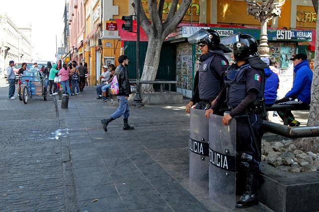 Vigilan la capital poblana 500 elementos de seguridad: Gali Fayad