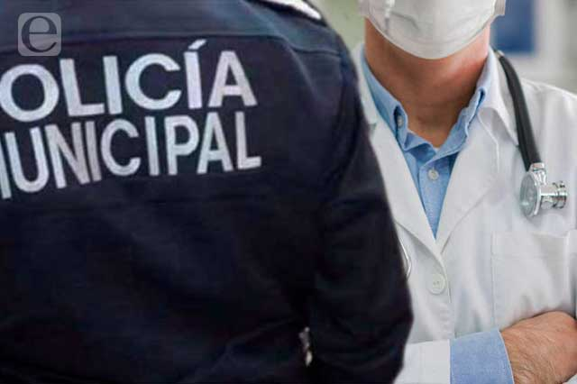 Niegan servicio médico a mujer policía de San Andrés Cholula
