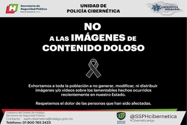 Policía cibernética de Hidalgo llama a no compartir contenido doloso