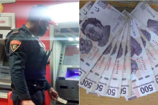 Policía de CDMX regresa 8 mil pesos que halló en cajero