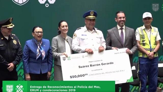 Dan 50 mil pesos a policía que capturó a implicada en caso Plaza Artz