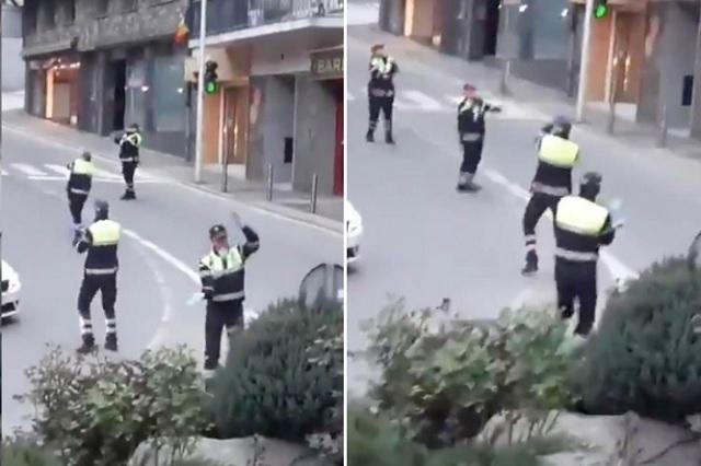 Policías en Andorra bailan 'Baby shark' para animar a niños en cuarentena