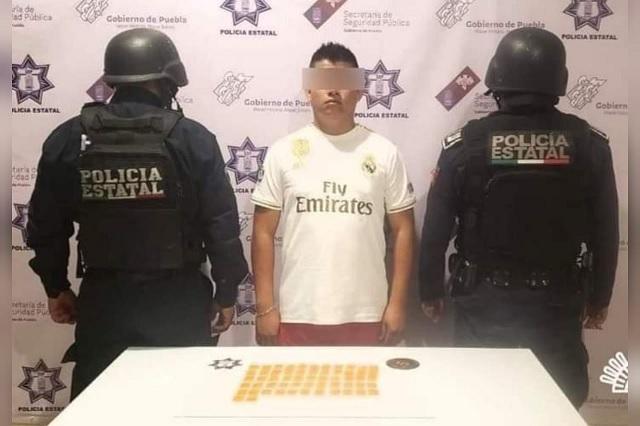 Detienen a ex custodio del CERESO de Tehuacán con droga