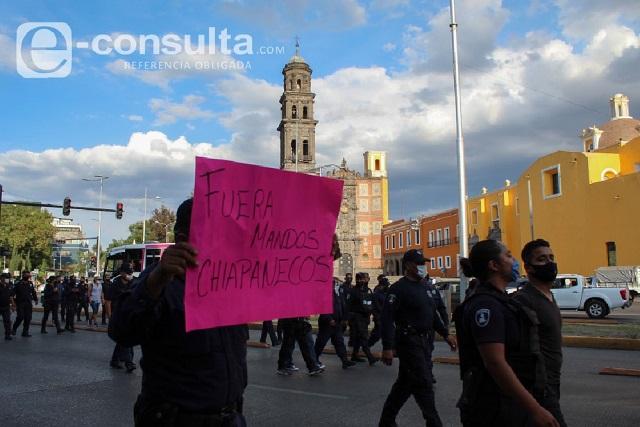 Policías niegan que  Ayuntamiento de Puebla promueva el paro en SSP