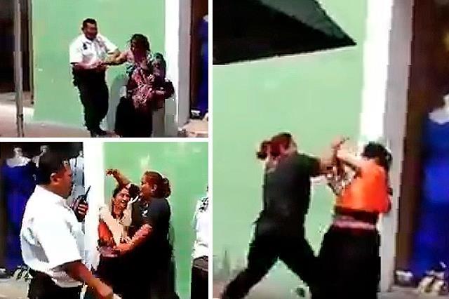 Mujeres indígenas son agredidas por policías y ciudadanos las defienden