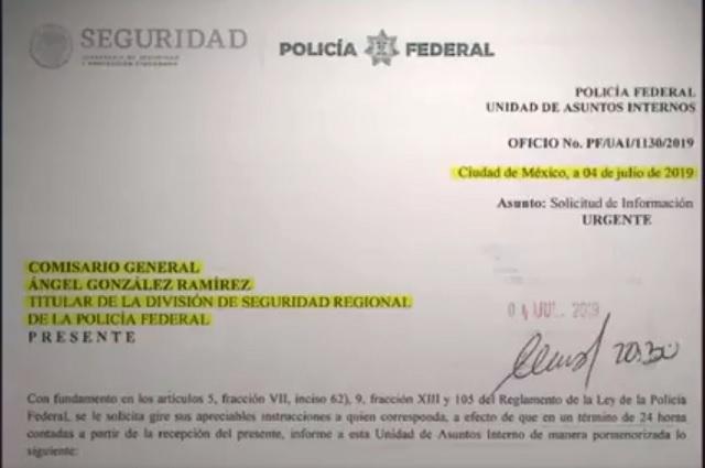 Comisario general pide nombres y cargos de federales que protestaron