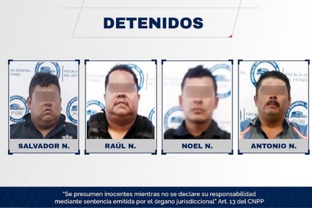 Policías de Huixcolotla van a prisión por robo de tráiler