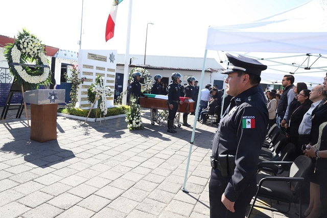 Rindió SSC homenaje póstumo al policía caído en balacera