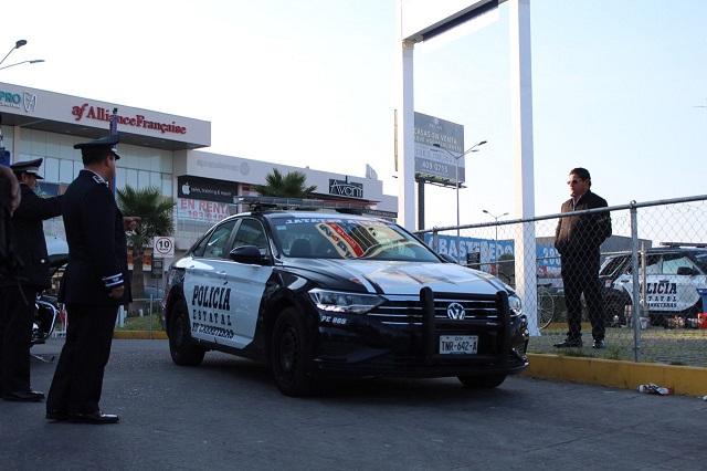 Con 4 patrullas y 24 policías vigilan Vía Atlixcáyotl todo el día