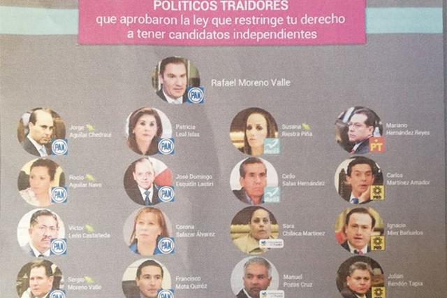 Activistas promoverán voto de castigo a candidatos del Frente