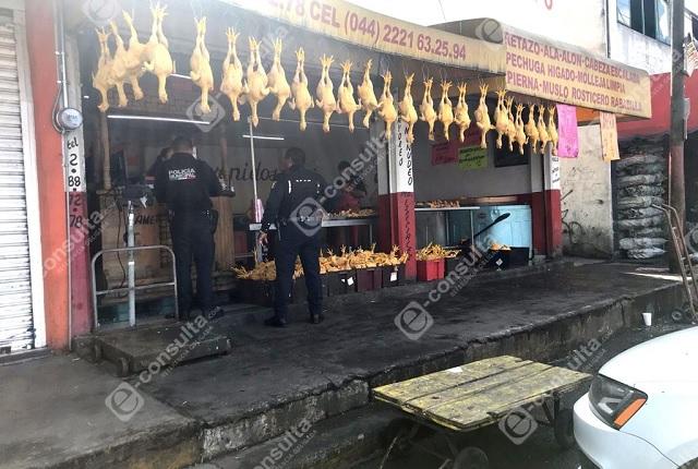 Pollería de la Central de Abasto de Puebla sufre su asalto número 16