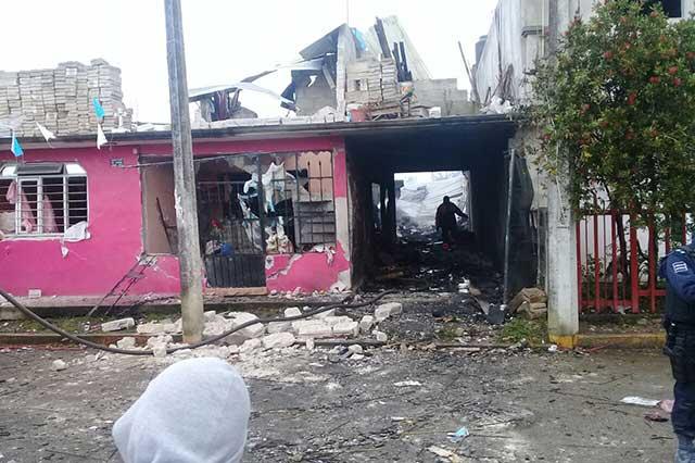 Explota polvorín en Xiutetelco y deja cuatro lesionados
