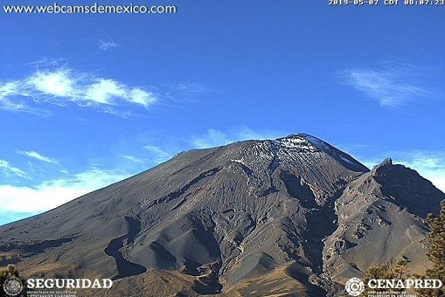 Bajan alerta volcánica del Popo de amarillo fase tres a fase dos
