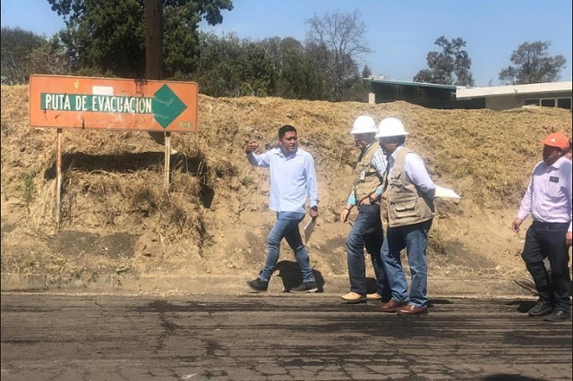 Supervisa SMT rutas de evacuación del volcán
