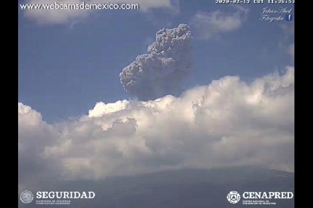 Sigue alerta del Popocatépetl en amarillo fase dos