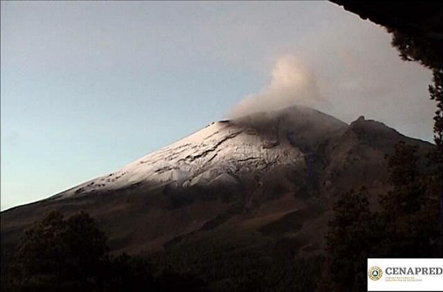 Popocatépetl presentó 8 explosiones en las últimas horas