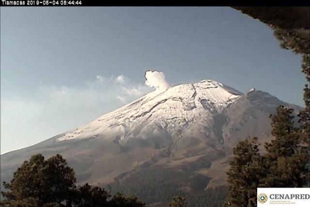 Sin alteración significativa actividad del Popocatépetl