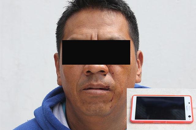 Detienen a hombre que robó celular a pasajera de la Ruta  4