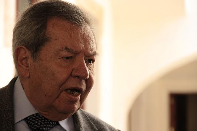 Denuncia Muñoz Ledo a Delgado por usar dinero público en contienda