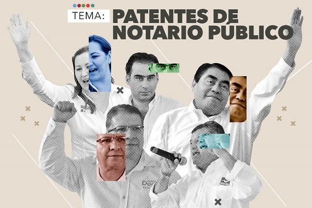 Candidatos someterían a examen patentes de notarías
