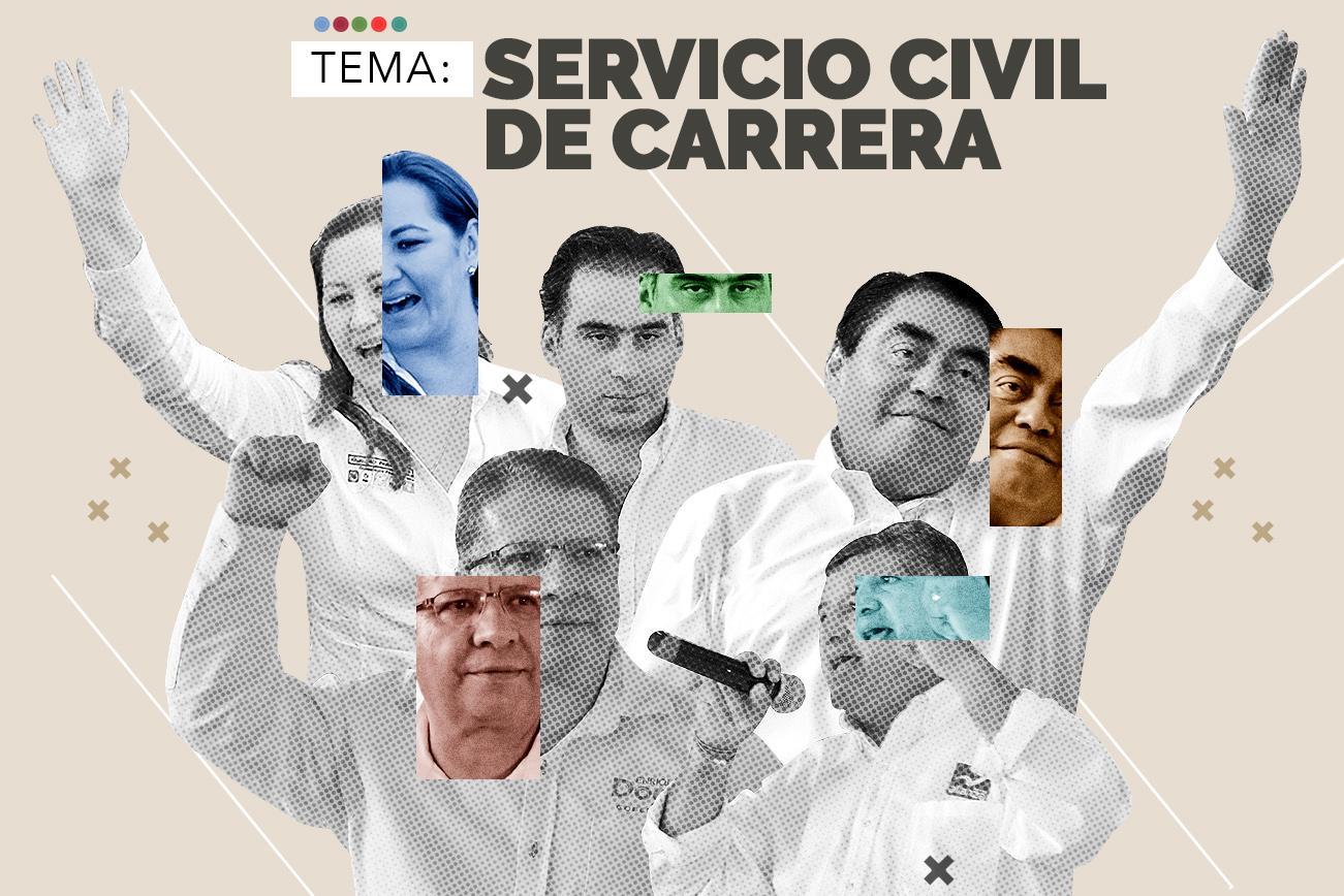 Candidatos establecerían el servicio civil de carrera en el Ejecutivo