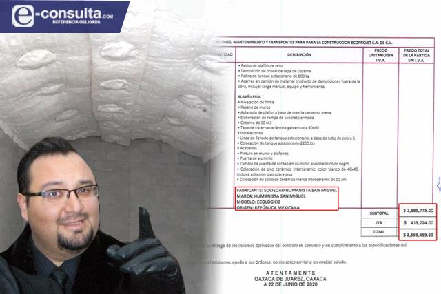 Factura Gobierno de Puebla al triple el horno crematorio de La Piedad