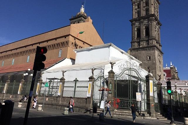 Tardaría 3 semanas desmontar réplica de la Sixtina en Puebla