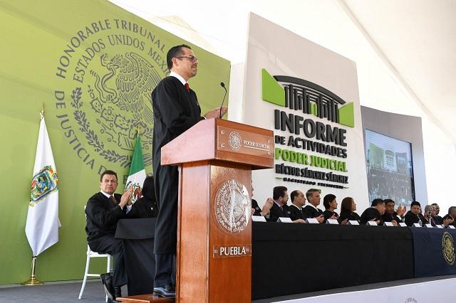 Más presupuesto y jueces, destaca titular del TSJ en informe