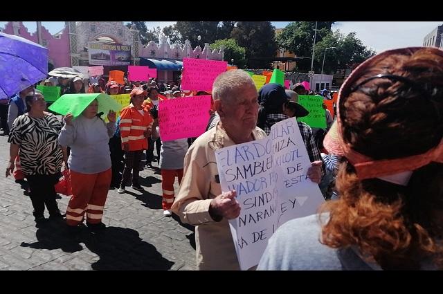 Protestan naranjitas en Casa Aguayo por reelección en el OOSL
