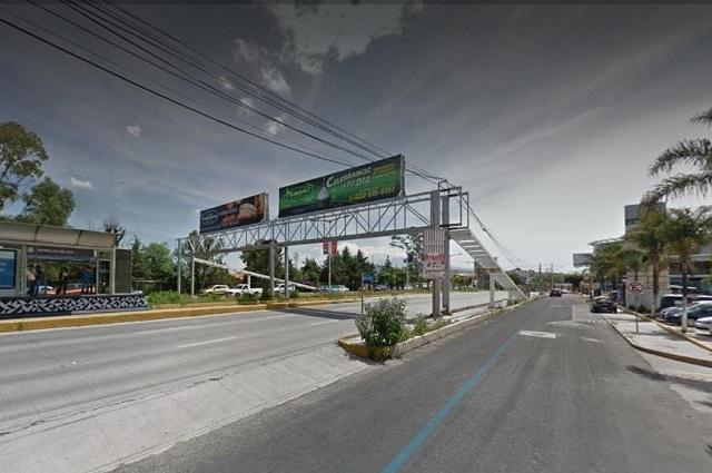 Ahora sí sustituirán 5 puentes por pasos peatonales en Puebla
