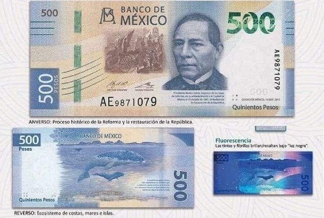 Hacen oficial el nuevo billete de 500 pesos y se va el de 20 pesos