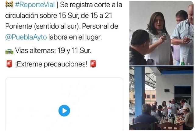 Acusan panistas a Rivera de cerrar calle para brindar; Comuna lo niega