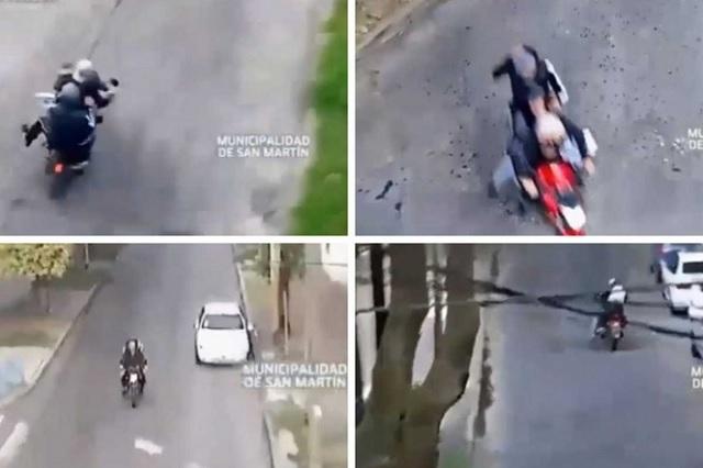 Video: asaltan y golpean a joven y momentos después sufren fatal accidente
