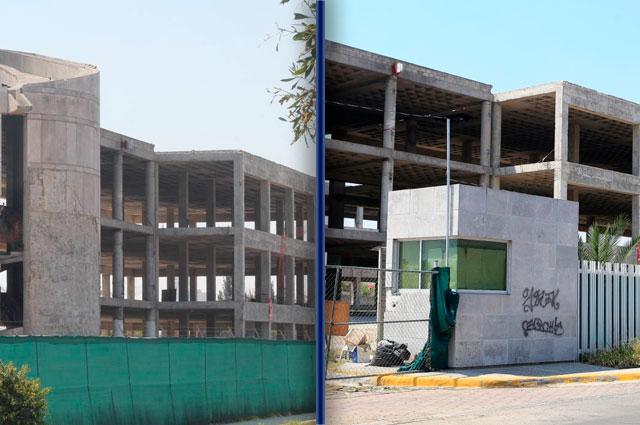 Con nulo avance van las obras de hospitales federales en Puebla