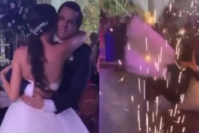 Video: tira a la novia en pleno vals y luego se levantan como si nada