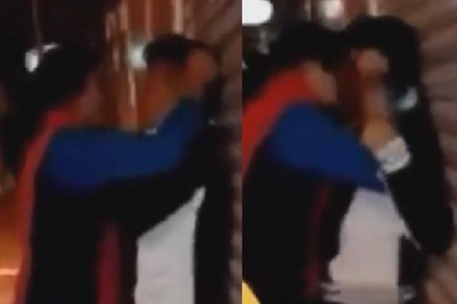 Video: Mujer se viraliza por darle salvaje beso a su pareja