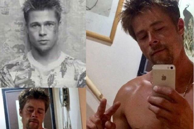 Obrero sorprende por gran parecido con Brad Pitt