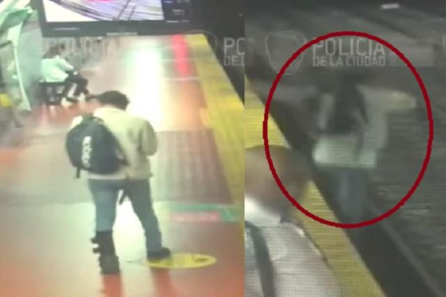 Video: hombre cae a las vías del metro por distraerse con su celular