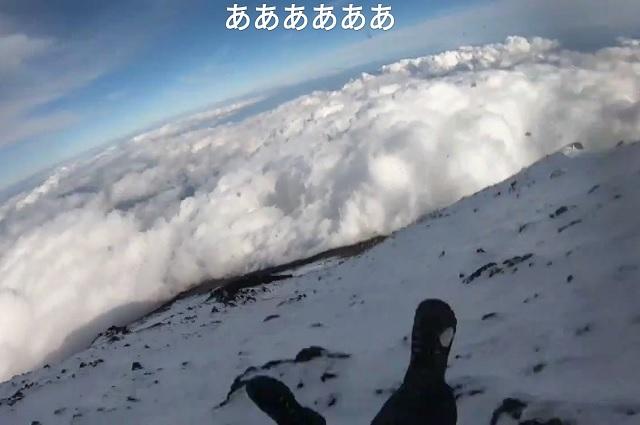 Video: transmite en vivo su caída mortal desde el Monte Fuji