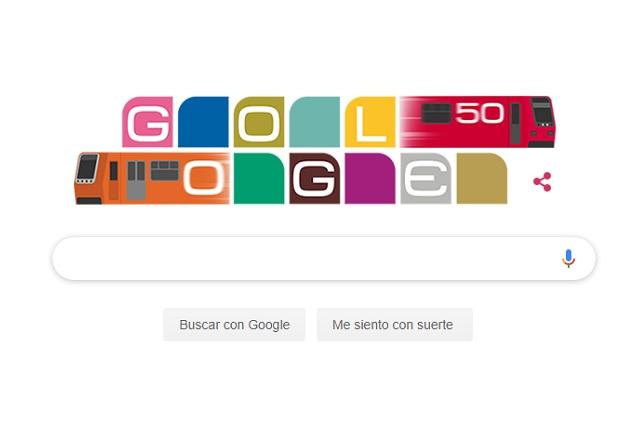 Gogole festeja 50 años del Metro de la CDMX