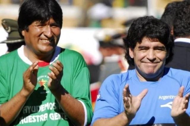 Maradona se suma al apoyo hacia Evo Morales