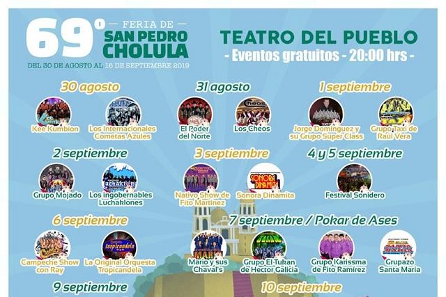 Feria de San Pedro Cholula muestra su cartel completo