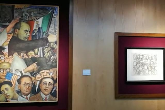 Exhiben las obras de arte decomisadas a Elba Esther Gordillo