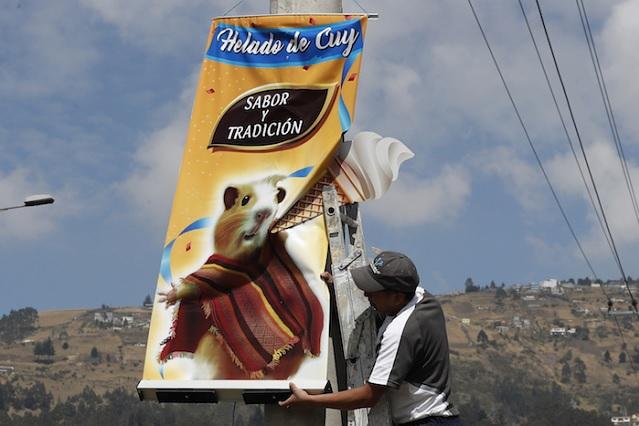 En Ecuador puedes probar helado de cuyo, escarabajo y hongo