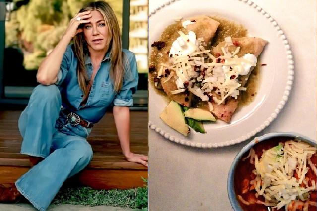 Jennifer Aniston presumió las enchiladas que preparó para el Día de Acción de Gracias