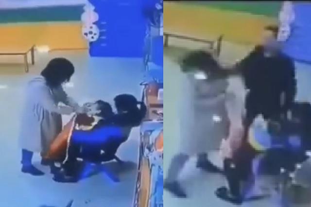 Video: cachetea a la maestra de su hija tras descubrir que la golpeaba