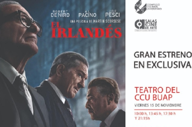 En exclusiva, CCU BUAP exhibirá El irlandés, de Martin Scorsese